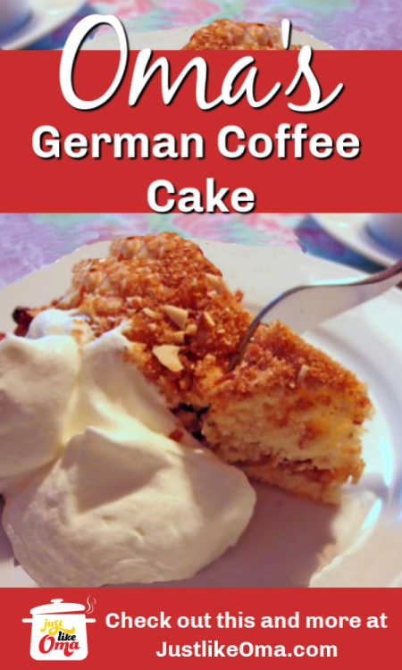 ❤️Oma's German Coffee Cake, aka Kaffeekuchen is a fun recipe to make with the kids. Give it a go!
