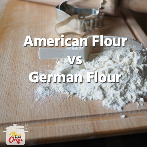 ❤️ Your recipe calls for German flours and you don't live in Germany? What can you do? Read: https://www.quick-german-recipes.com/german-flours.html #justlikeoma #germanflour #applestrudel