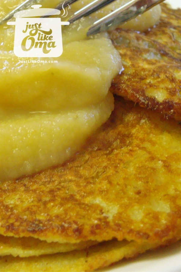 German potato pancakes, done the easy way, in a blender:
