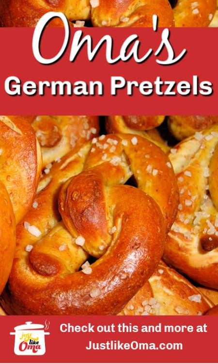 ❤️Traditional German Pretzels. An Oktoberfest treat! Try making them just like Oma!