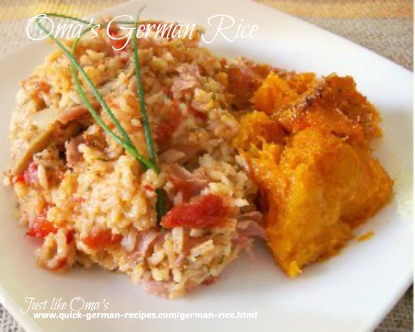 30 minute German rice dinner