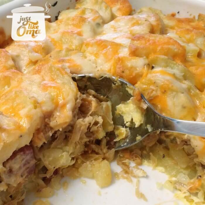 Sauerkraut Casserole using leftovers