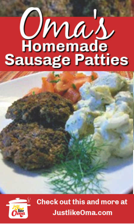 ❤️Homemade Sausage Patties are so much fun to make! Try them out and make them just like Oma!