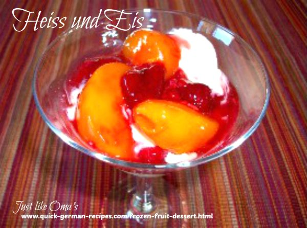 Heiss und Eis (a Frozen Fruit Treat)