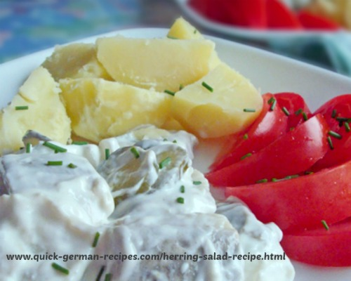 Herring Salad - easy dinner salad of marinated herring