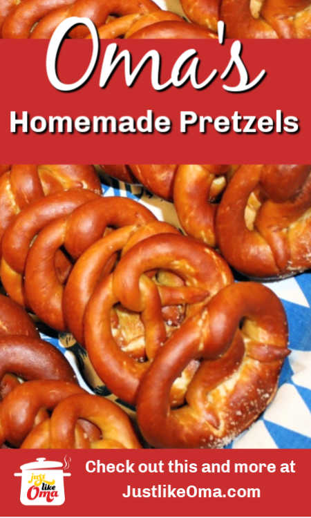 German Homemade Pretzels - authentic bakery style.