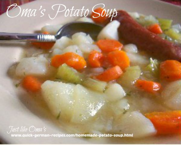 Homemade Potato Soup - real German taste