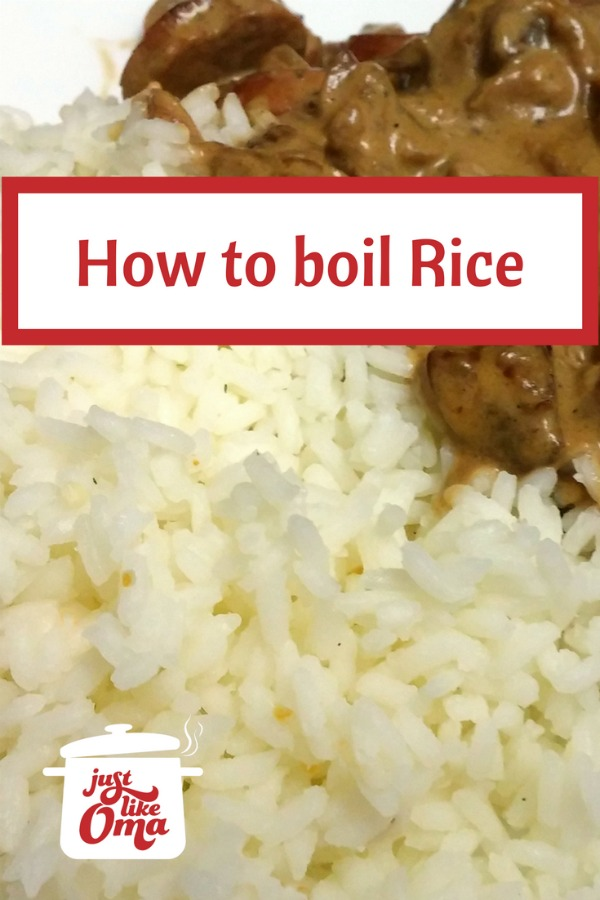 Easy way to make perfect rice