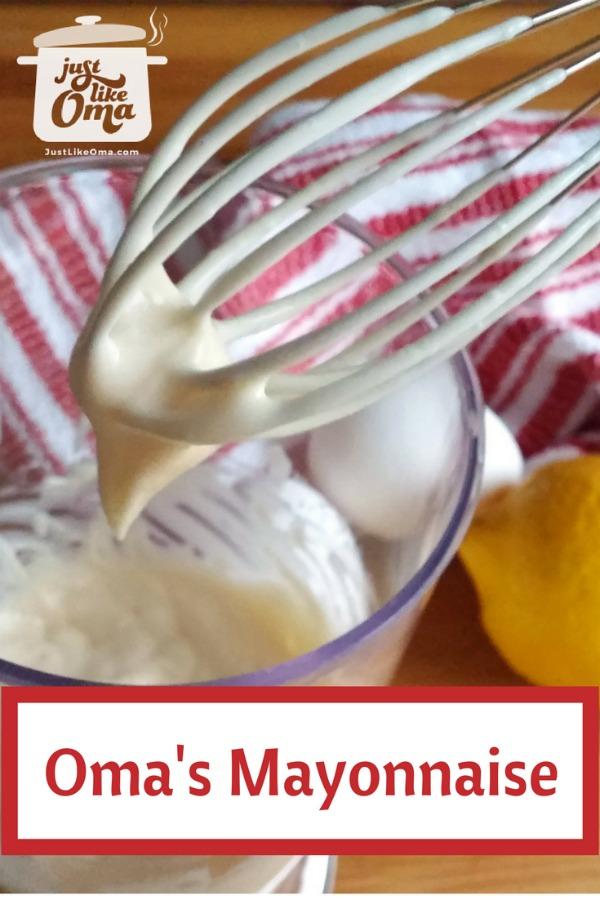 Making mayonnaise, German-style
