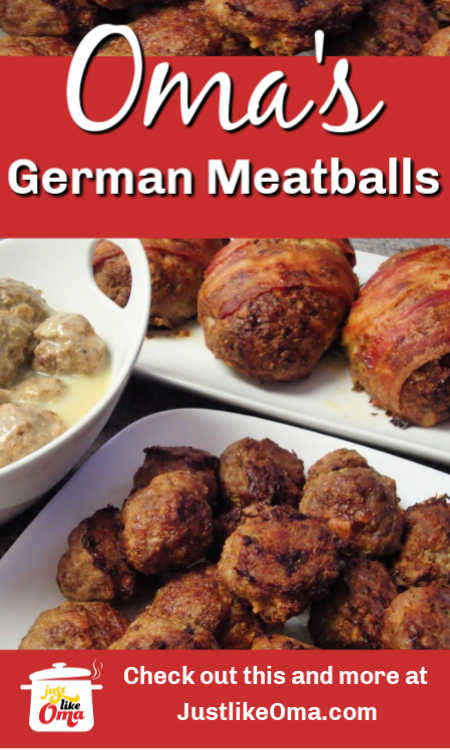 ❤️Learning how to make German meatballs, German meatloaf and more is such an easy task ... when made just like Oma!
