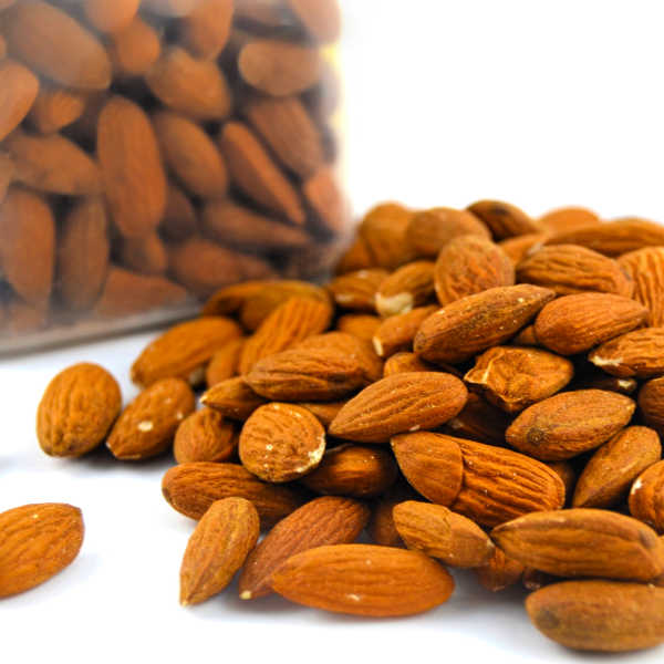 Almonds -- roasting them at home is an easy way to boost their flavor!