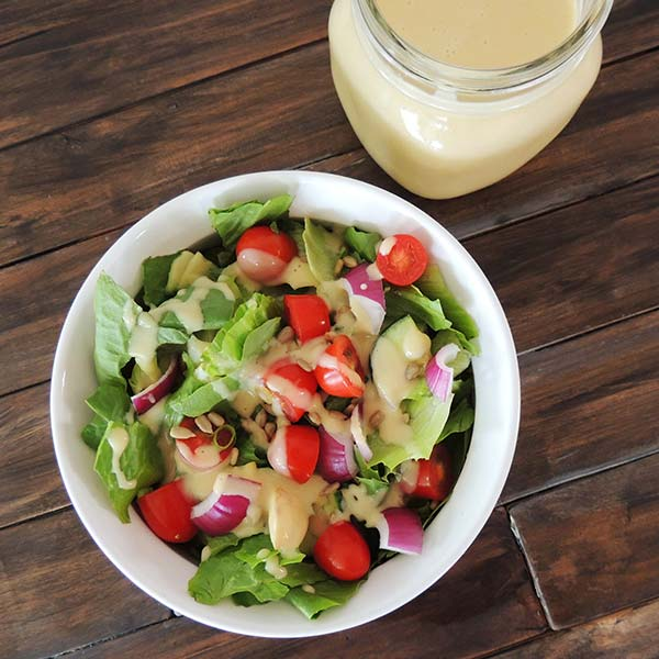If you love hummus, then you'll love this creamy hummus salad dressing recipe!