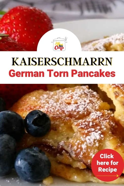 ❤️ Kaiserschmarrn, aka. Torn Pancake, is a wonderful treat! Light, fluffy and delicious. Try making this recipe Just like Oma!