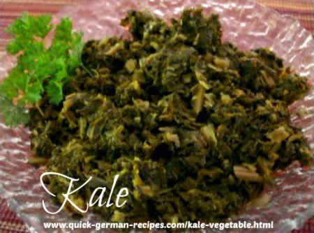 German traditional recipes: Kale