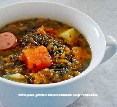 Kale Soup with Sausage - quick and simple