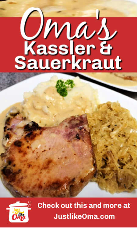 Traditional Kassler Chops served with sauerkraut. So good and so easy to make.