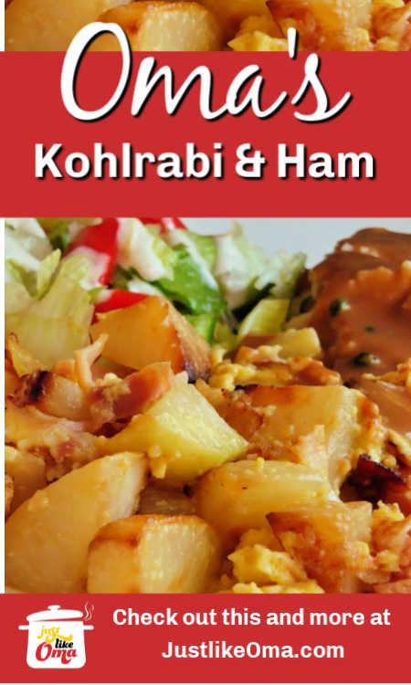 Kohlrabi recipe with ham!