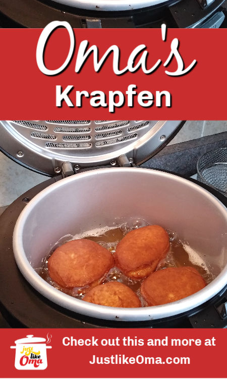❤️ Deep Frying Berliner Pfannkuchen or Krapfen ~ German jelly donut that's so popular for New Year's. https://www.quick-german-recipes.com/jelly-donut-recipe.html #germanfood  #krapfen #justlikeoma