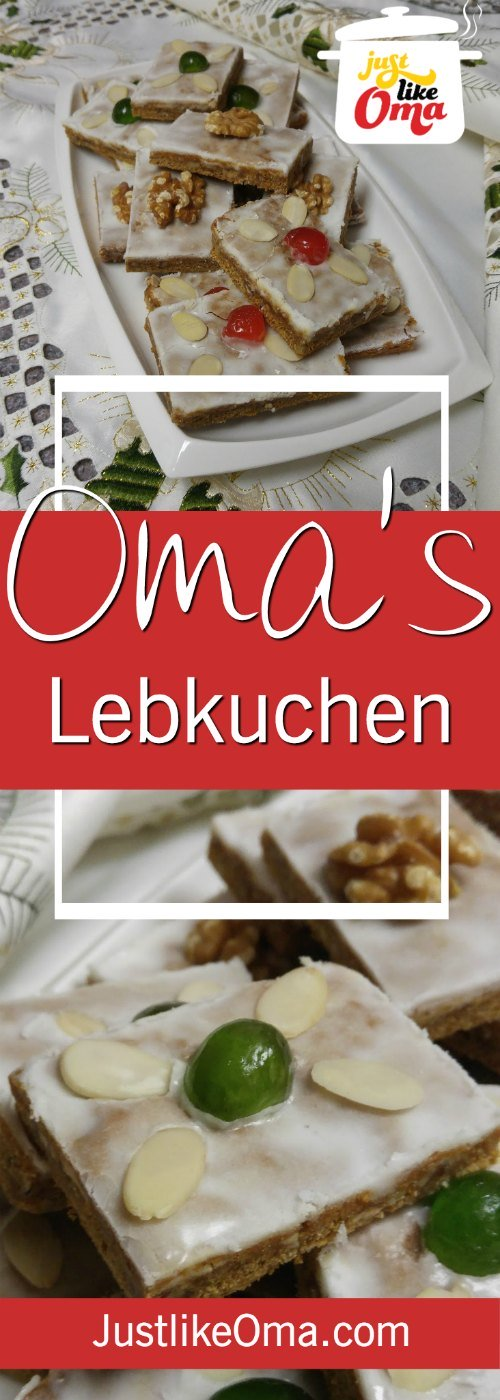 Easy German Lebkuchen, baked as bar cookies, made just like Oma. ❤️ https://www.quick-german-recipes.com/lebkuchen-recipe.html