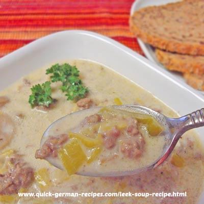 Leek Soup - an extra elegant soup