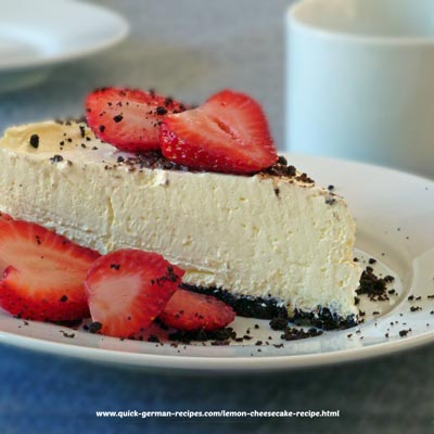 Cheesecake - lemon, no-bake version