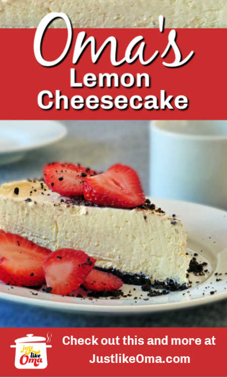 Wonderfully delicious No-Bake Lemon Cheesecake!