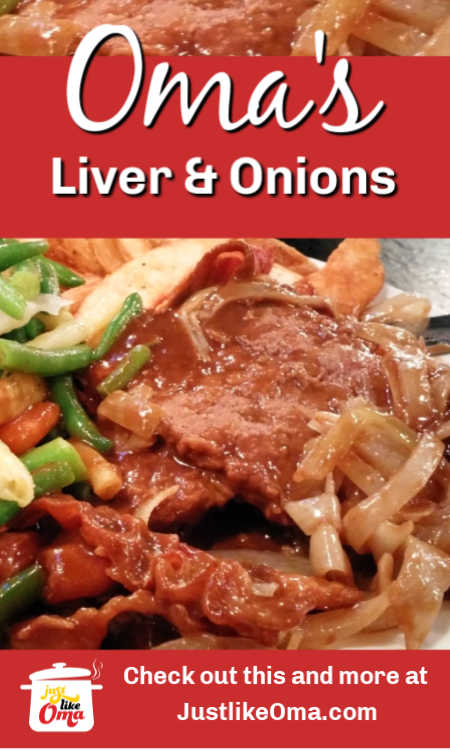❤️ Make this German Liver and Onions recipe, just like Oma!