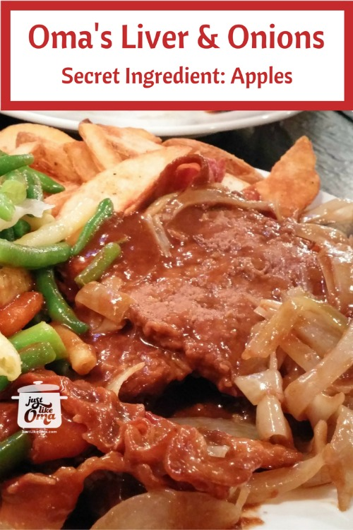 Liver and Onions with apples