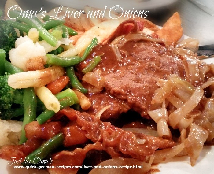 German Liver and Onions Recipe & apples made Just like Oma