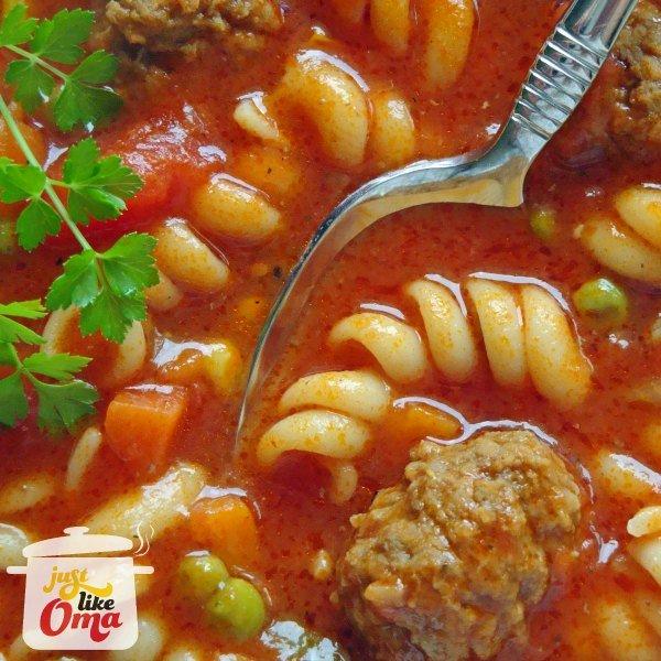 Italian Meatball Soup is such an easy crowd-pleaser