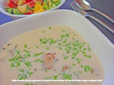 Cream of Mushroom Soup - from scratch, but quick