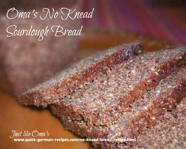 German Bread Recipe: No Knead Sourdough Bread