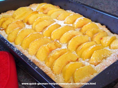 German Peach Cake ... and substitute plums instead (yeast cake)