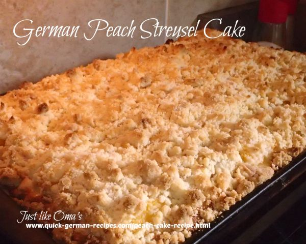 German Peach Cake with Streusel