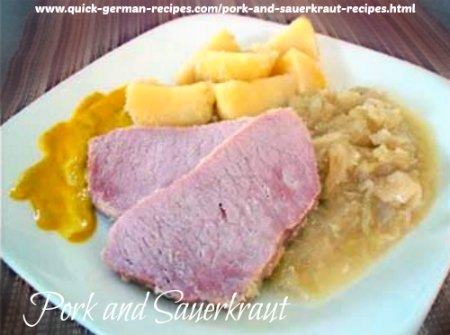 Pork and Sauerkraut - a complete meal