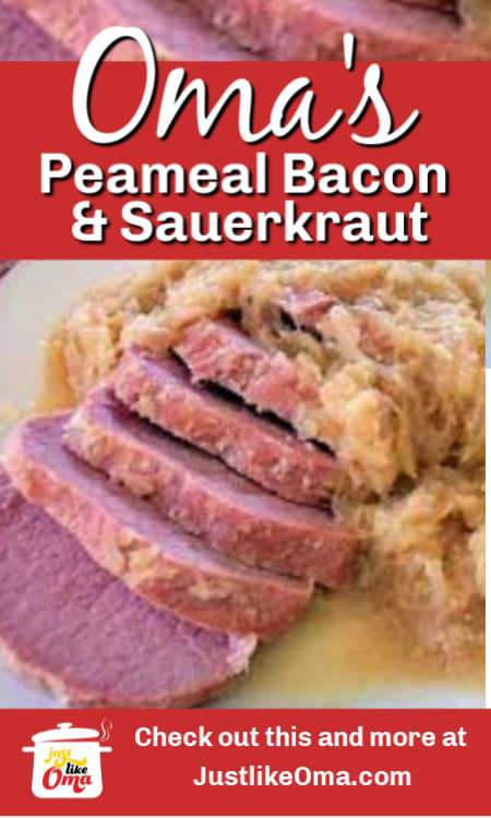 ❤️ Canadian Peameal Bacon -- German-style, almost like Kassler. Made in a slow cooker with sauerkraut. So wunderbar!