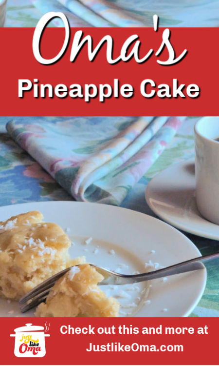 Try this German pineapple cake when you're in a hurry. Quick and easy to make, and, most importantly, it's delicious!