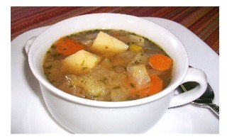 Potato and Cabbage Soup - hearty enough for the hungriest