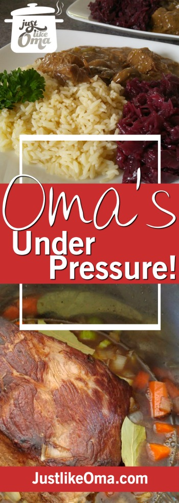 Check out these Instant Pot Pressure Cooker recipes that Oma's been converting from her traditional German recipes. ❤️ https://www.quick-german-recipes.com/pressure-cooker-recipes.html
