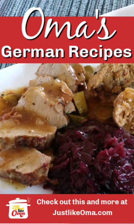 Looking for authentic German recipes? Take a look at the hundreds Oma has posted here. Tried, tested, and true!