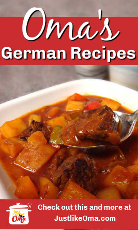 Make Oma's traditional German recipes. These are easy German recipes, authentic in taste, but modernized!