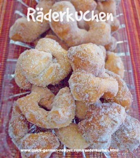 Räderkuchen - deep fried cakes - a little taste of heaven!