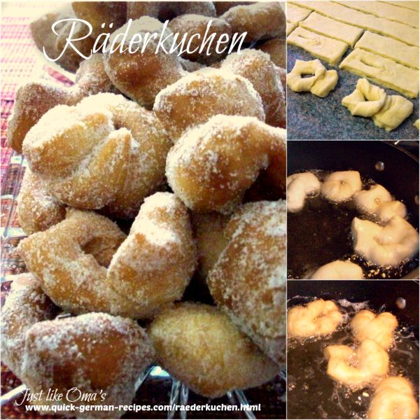 collage showing how to make Räderkuchen