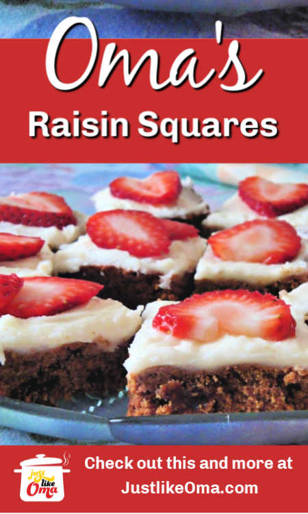 These raisin squares are like little fruitcakes ... so good!