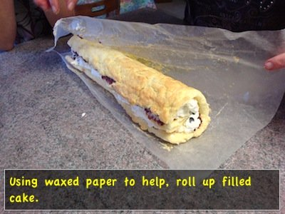 Re-roll filled cake