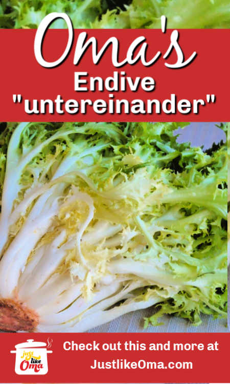 ❤️ Endive with mashed potatoes. Recipe from the Ruhr region of Germany as sent in by one of our fans.