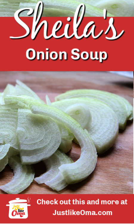 Onion soup sent in by one of our fans! Cozy up with a nice hot bowl of this deliciousness!