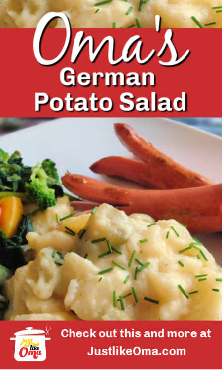 ❤️ Traditionally eaten warm, Oma's southern  German Potato Salad also tastes great cold!
