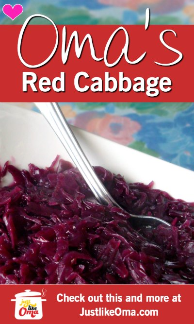 Yummy German recipe for Red Cabbage ... so traditionally delicious.
