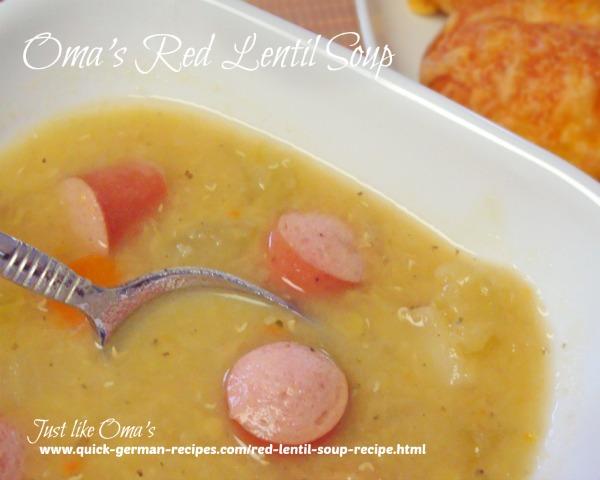 Oma's red lentil soup